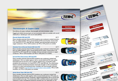TE Wire & Cable   Thermocouple Wire   Thermocouple Manufacturers